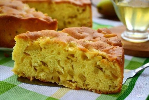 Медово-грушевый пирог