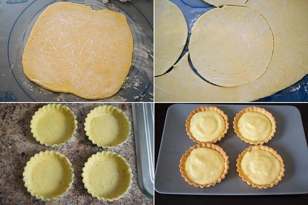 Французские пирожные с заварным кремом и ягодами.